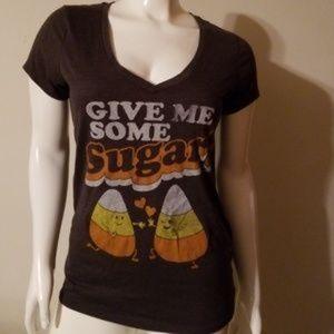 Halloween Give Me some Sugar Gray Tee Size XL